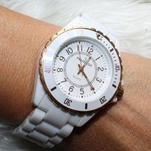 Peugeot Ladies White Watch